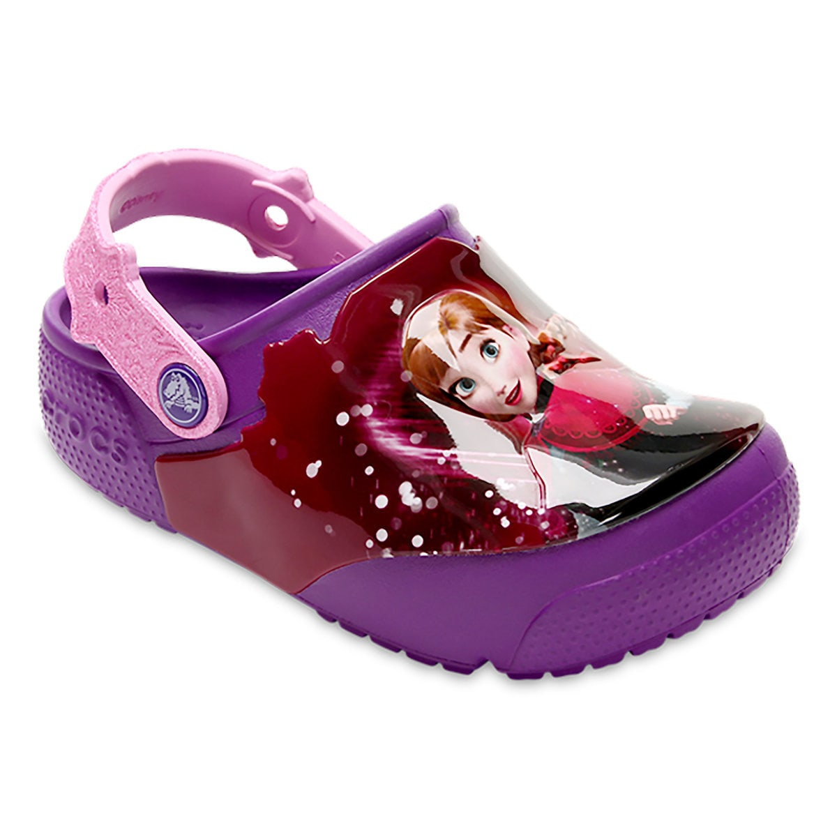 e39f9e23d0 Product Image of Anna and Elsa Crocs™ Light-Up Clogs for Girls   1