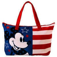 Image of Mickey Mouse Americana Canvas Tote # 1