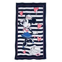 Image of Sailor Minnie Mouse Beach Towel - Disney Cruise Line # 1