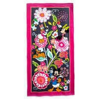 Image of Mickey Mouse and Friends Floral Beach Towel by Vera Bradley # 1