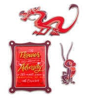Image of Disney Wisdom Pin Set - Mushu - February - Limited Release # 1