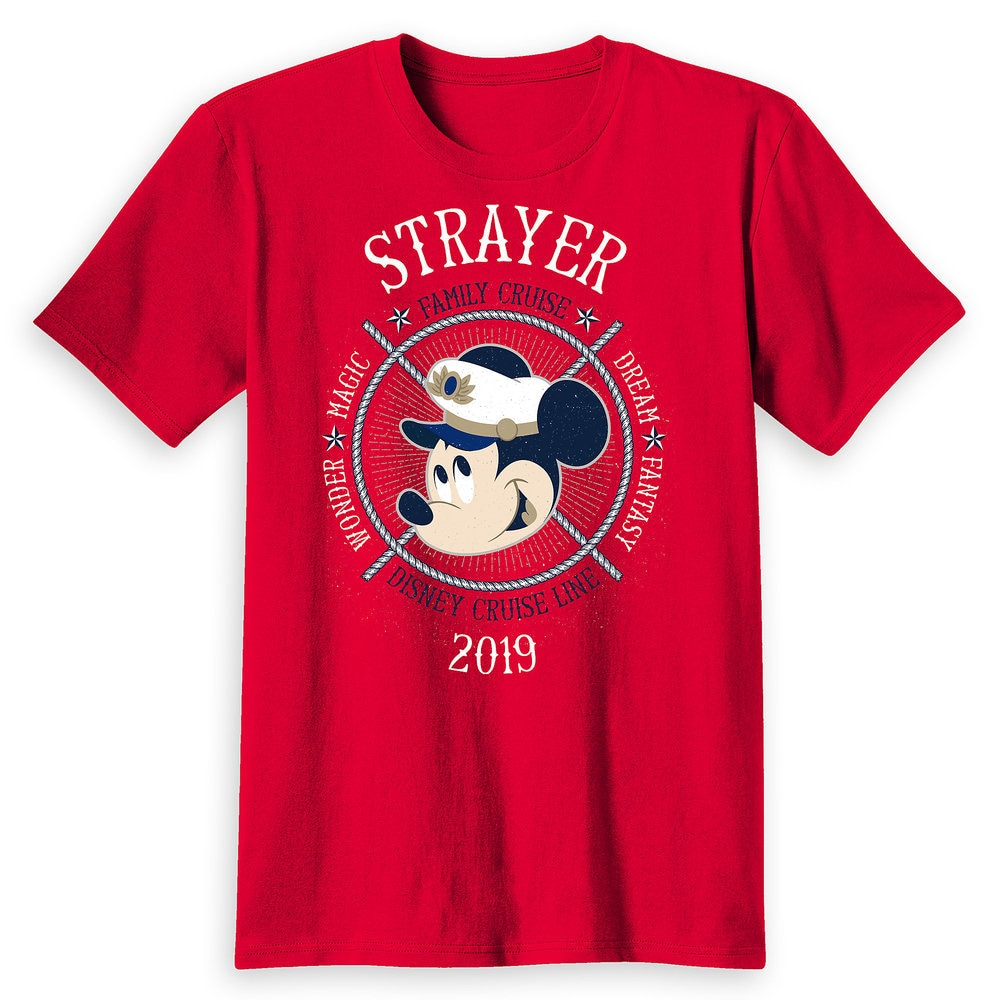 Adults' Captain Mickey Mouse Disney Cruise Line Ships Family Cruise 2019 T-Shirt - Customized