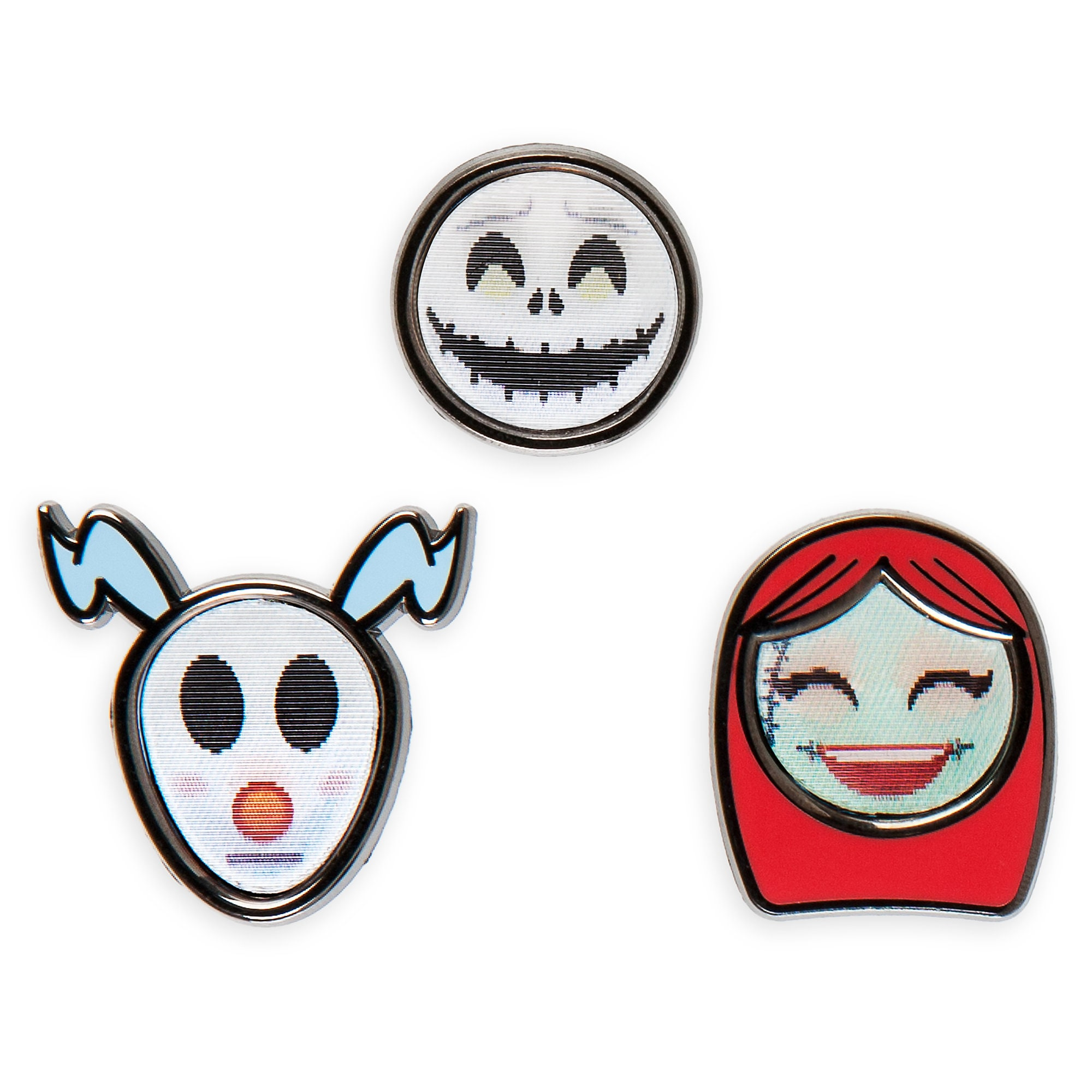 Tim Burton's The Nightmare Before Christmas Disney Emoji Mini Pin Set