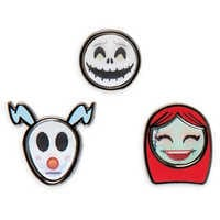 Image of Tim Burton's The Nightmare Before Christmas Disney Emoji Mini Pin Set # 1