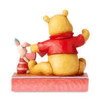 Image of Winne the Pooh and Piglet ''Handmade Valentine'' Figure by Jim Shore # 2