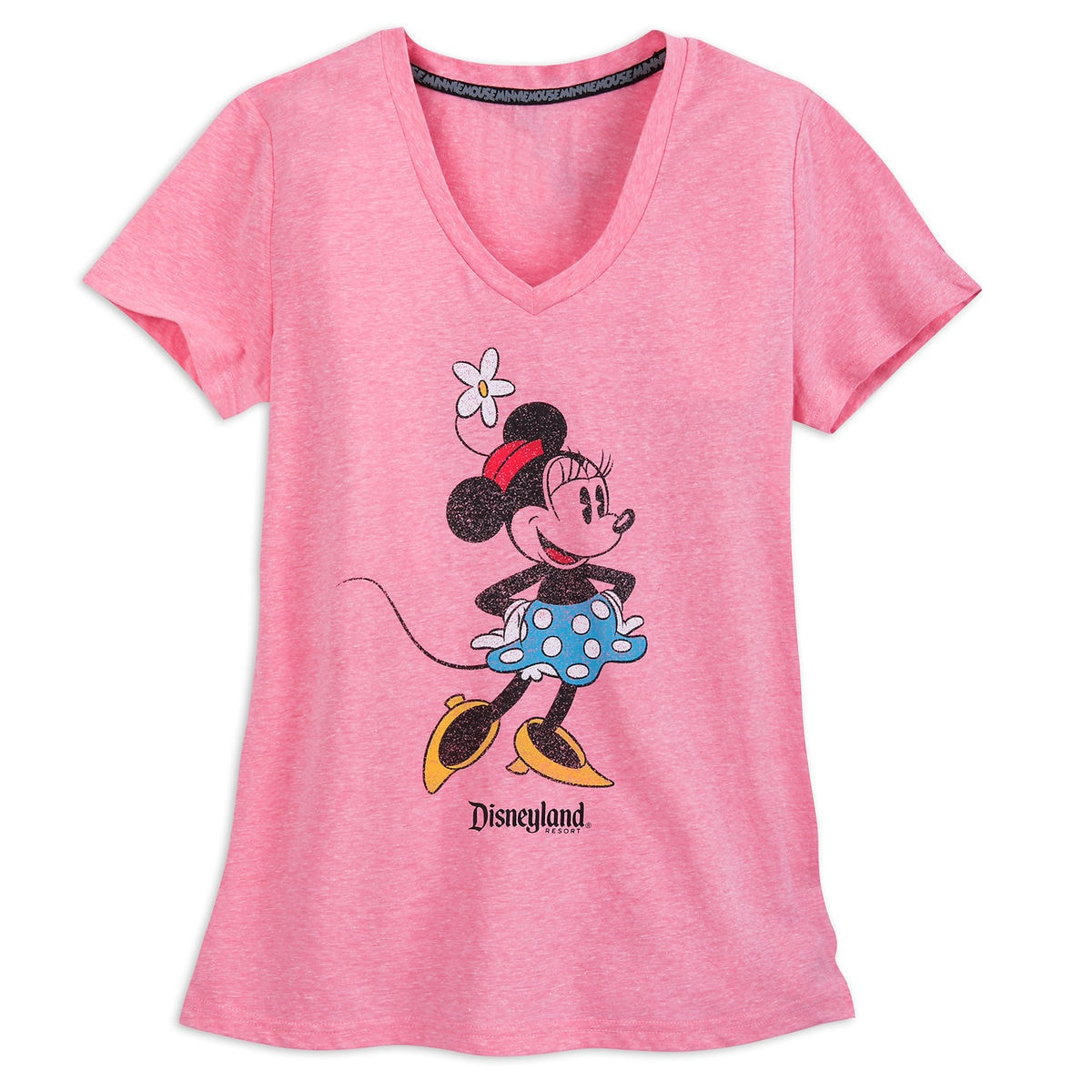 Minnie Mouse V Neck T Shirt For Women Disneyland Pink Shopdisney
