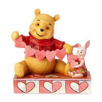 Image of Winne the Pooh and Piglet ''Handmade Valentine'' Figure by Jim Shore # 1
