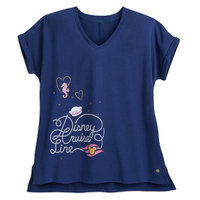 Sailor Minnie Mouse V-Neck T-Shirt for Women - Disney Cruise Line