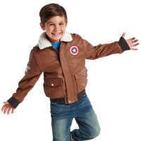 Image of Captain America Flying Jacket for Boys # 2