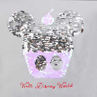 Image of Mickey Mouse Cupcake Reversible Sequin T-Shirt for Women - Walt Disney World # 2