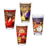 Image of Beauty and the Beast Drinking Glass Set - 4 pc. - Oh My Disney # 1