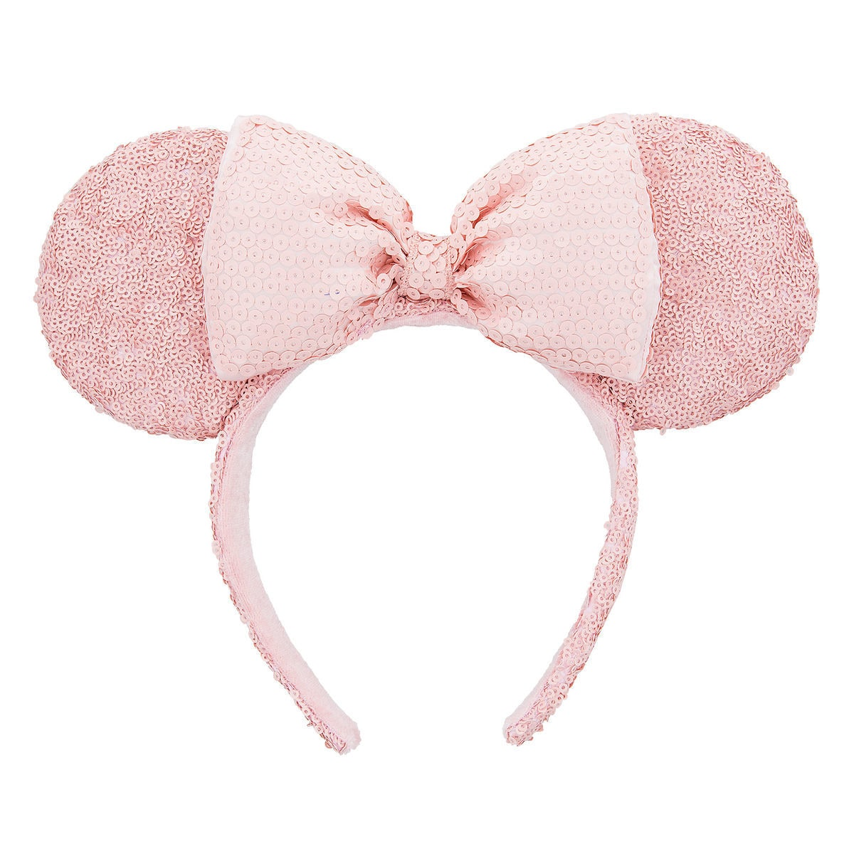 minnie mouse sequined ear headband pink shopdisney