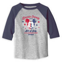 Image of Toddlers' Mickey Mouse 4th of July Raglan T-Shirt - Disneyland - Customized # 1