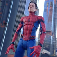 Image of Spider-Man Action Figure - Marvel Select - Spider-Man: Homecoming - 7'' # 8