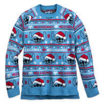 Image of Stitch Light-Up Holiday Sweater for Adults # 1