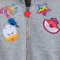 Image of Disney Emoji Hooded Fleece Jacket for Girls # 2