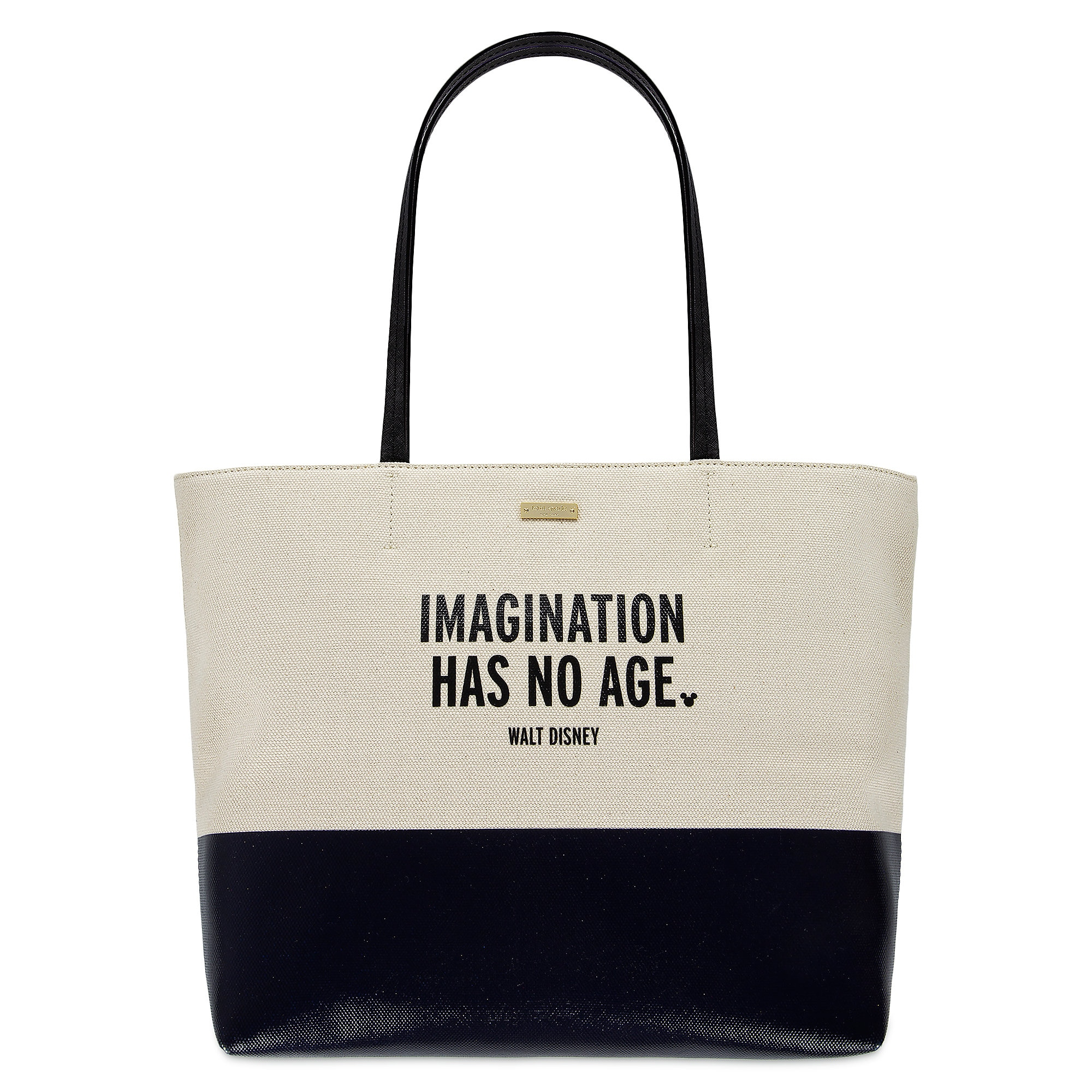 52dccdc36b2   Imagination Has No Age   Canvas Tote by kate spade new york