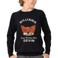 Image of Nick Wilde Emoji Vacation Sweatshirt for Kids - Zootopia - Customizable # 1