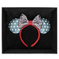 Image of Mickey and Minnie Mouse Americana Ear Headband by Harveys - Limited Release # 2