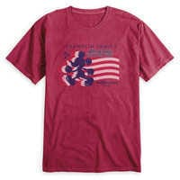 Image of Adults' Mickey Mouse Silhouette 4th of July T-Shirt - Walt Disney World - Customized # 1