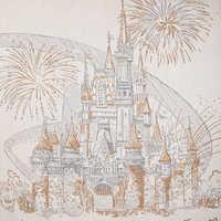 Image of Cinderella Castle Damask Throw - Walt Disney World # 2