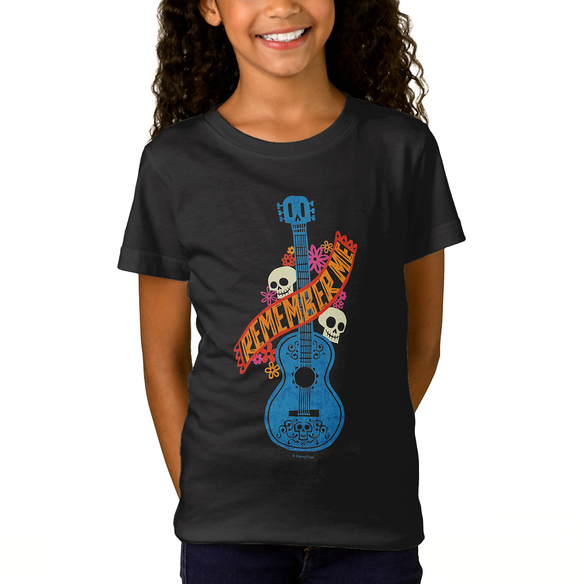 Coco Remember Me Guitar Graphic T-Shirt for Girls - Customizable