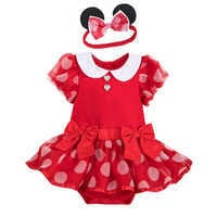 Image of Minnie Mouse Costume Bodysuit for Baby - Red # 1