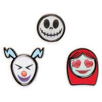 Image of Tim Burton's The Nightmare Before Christmas Disney Emoji Mini Pin Set # 2