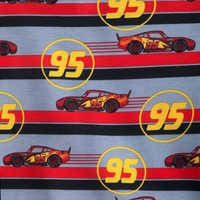 Image of Lightning McQueen Striped Shorts Sleep Set for Boys # 5