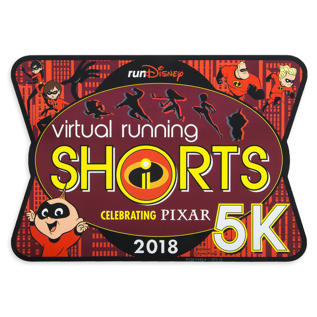 6ba7d22980a Product Image of Incredibles 2 runDisney Virtual Running Shorts 5K 2018  Magnet - Limited Release