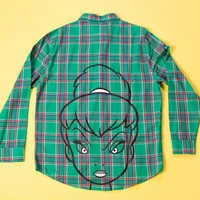 Image of Tinker Bell Flannel Shirt for Adults by Cakeworthy # 7