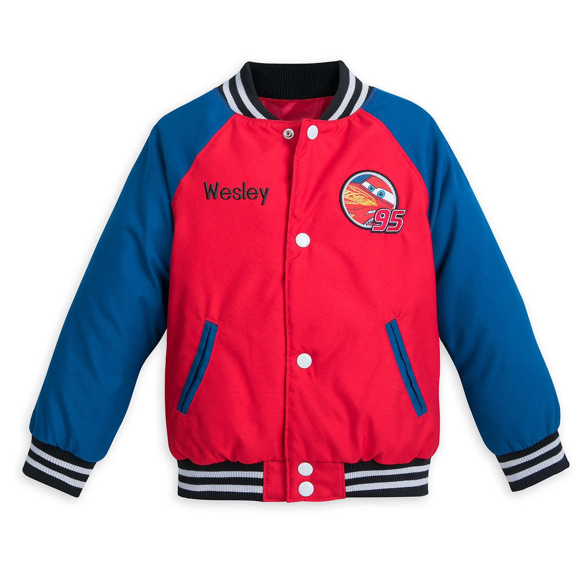dc476e9221f8 Product Image of Lightning McQueen Varsity Jacket for Boys - Personalizable  # 1