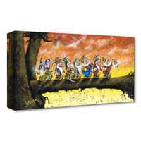 Image of Snow White and the Seven Dwarfs ''Back To Home We Go'' Giclée on Canvas by Trevor Mezak # 1