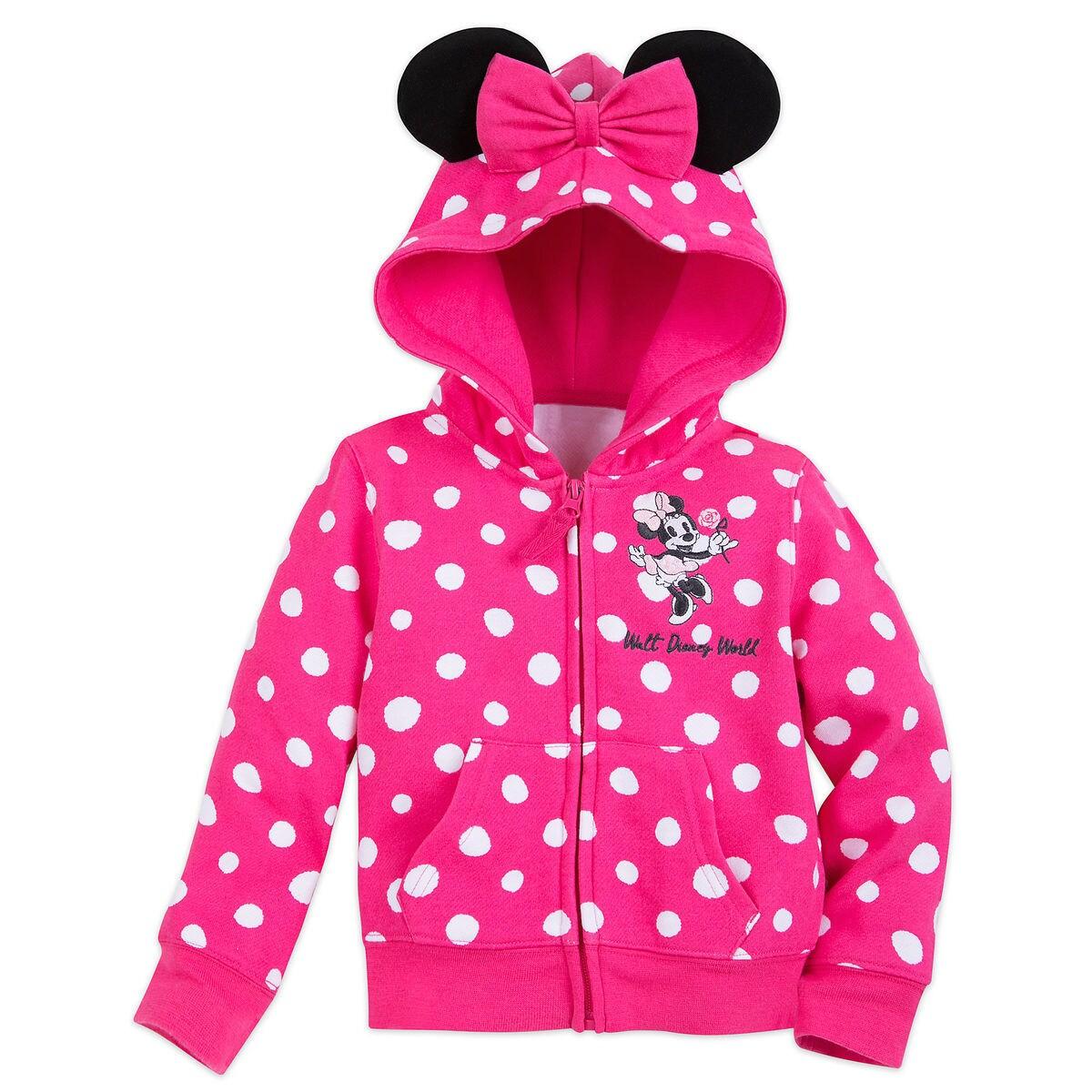 e9bcd3e71a91 Sweet Minnie Mouse Ears Hoodie for Girls - Walt Disney World ...
