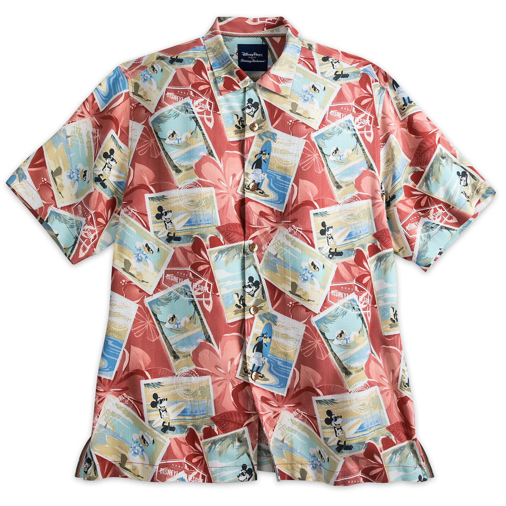 e825915c1 Mickey Mouse and Friends Silk Shirt for Men by Tommy Bahama - Red |  shopDisney