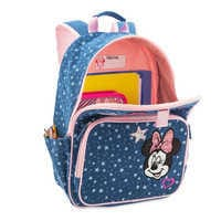Image of Minnie Mouse Denim Backpack for Kids - Personalized # 5