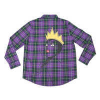 Image of Evil Queen Flannel Shirt for Adults by Cakeworthy # 1