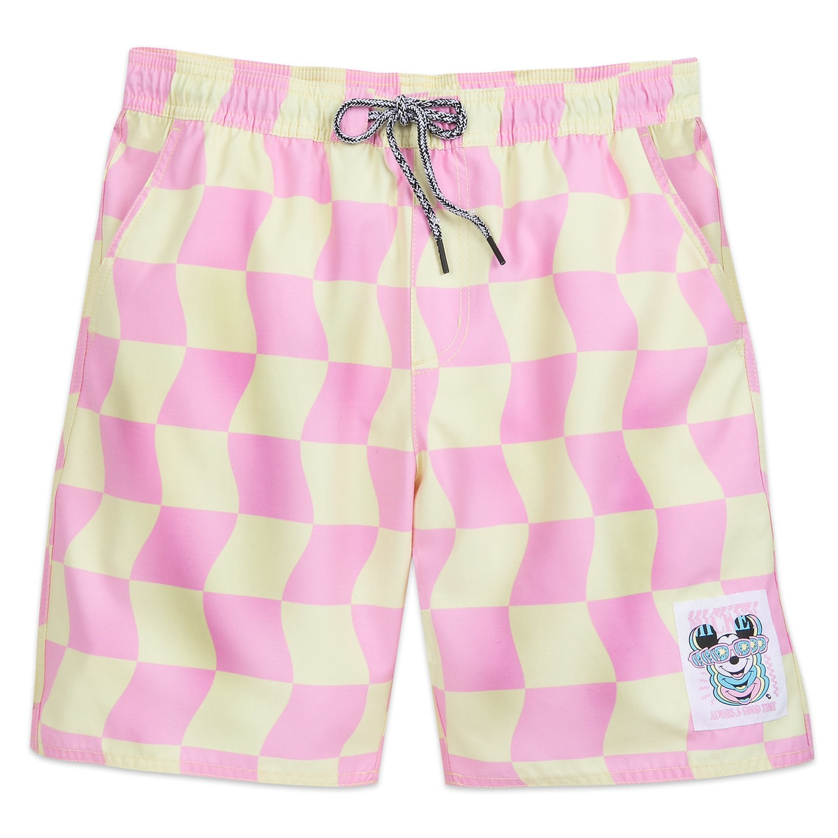 b5b17761b3 Product Image of Mickey Mouse Checkered Swim Trunks for Men by Neff # 1