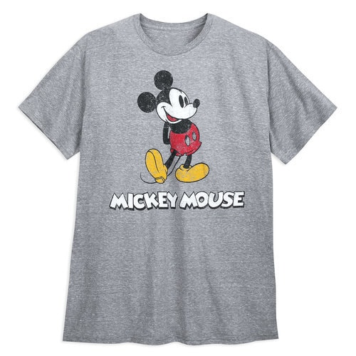 Mickey Mouse Classic T Shirt For Men Gray Extended