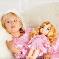 Image of Disney Animators' Collection Aurora Sleep Gown Set for Girls and Doll # 2
