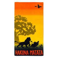 Image of The Lion King ''Hakuna Matata'' Beach Towel # 1