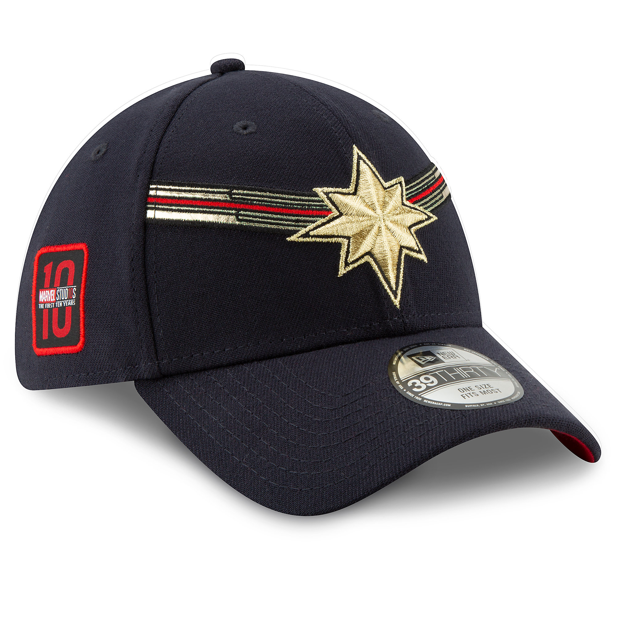 25 30 Anniversary Cap: Marvel's Captain Marvel Baseball Cap For Adults By New Era