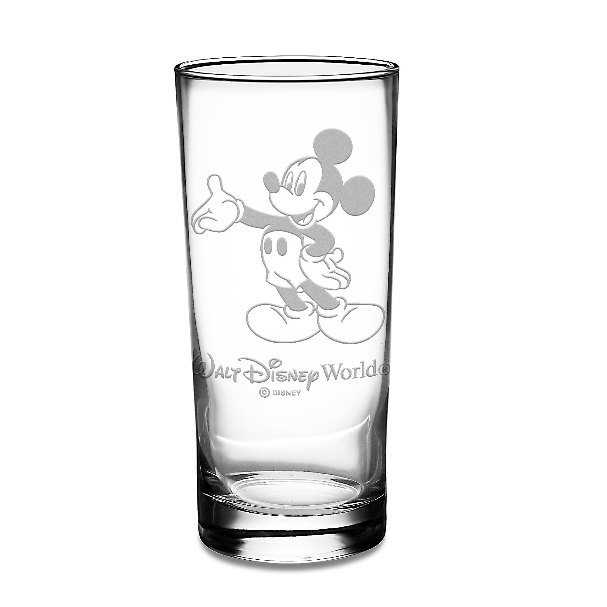 Mickey Mouse Glass Tumbler by Arribas - Personalizable