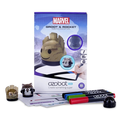 Groot and Rocket Ozobot Robotics Starter Pack ? Guardians of the Galaxy