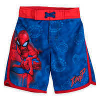 Image of Spider-Man Swim Trunks for Boys # 1