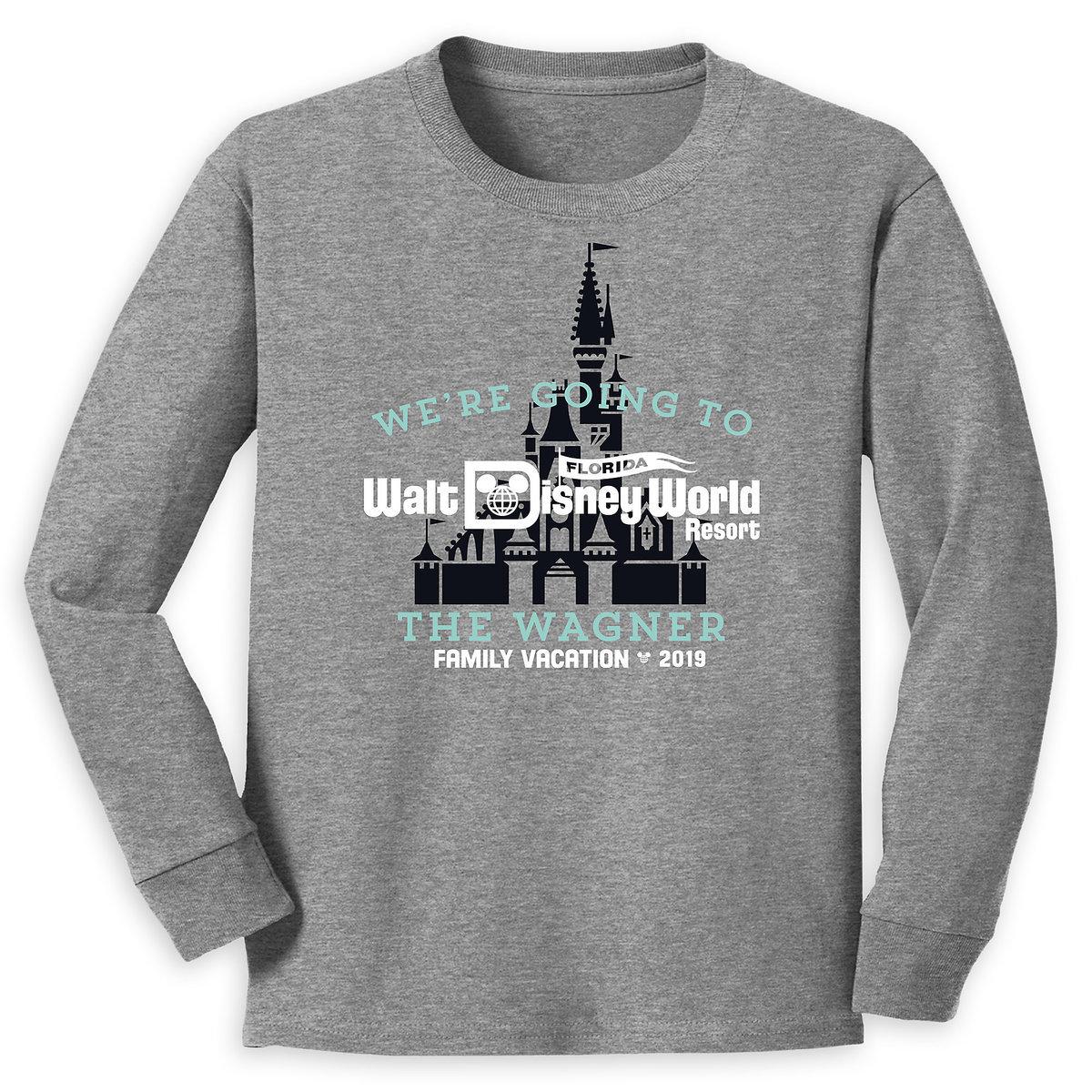 0c80c610 Product Image of Walt Disney World 2019 Family Vacation Long Sleeve Shirt  for Kids - Customized