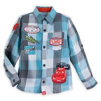 Image of Lightning McQueen and Jackson Storm Button Shirt for Boys # 1