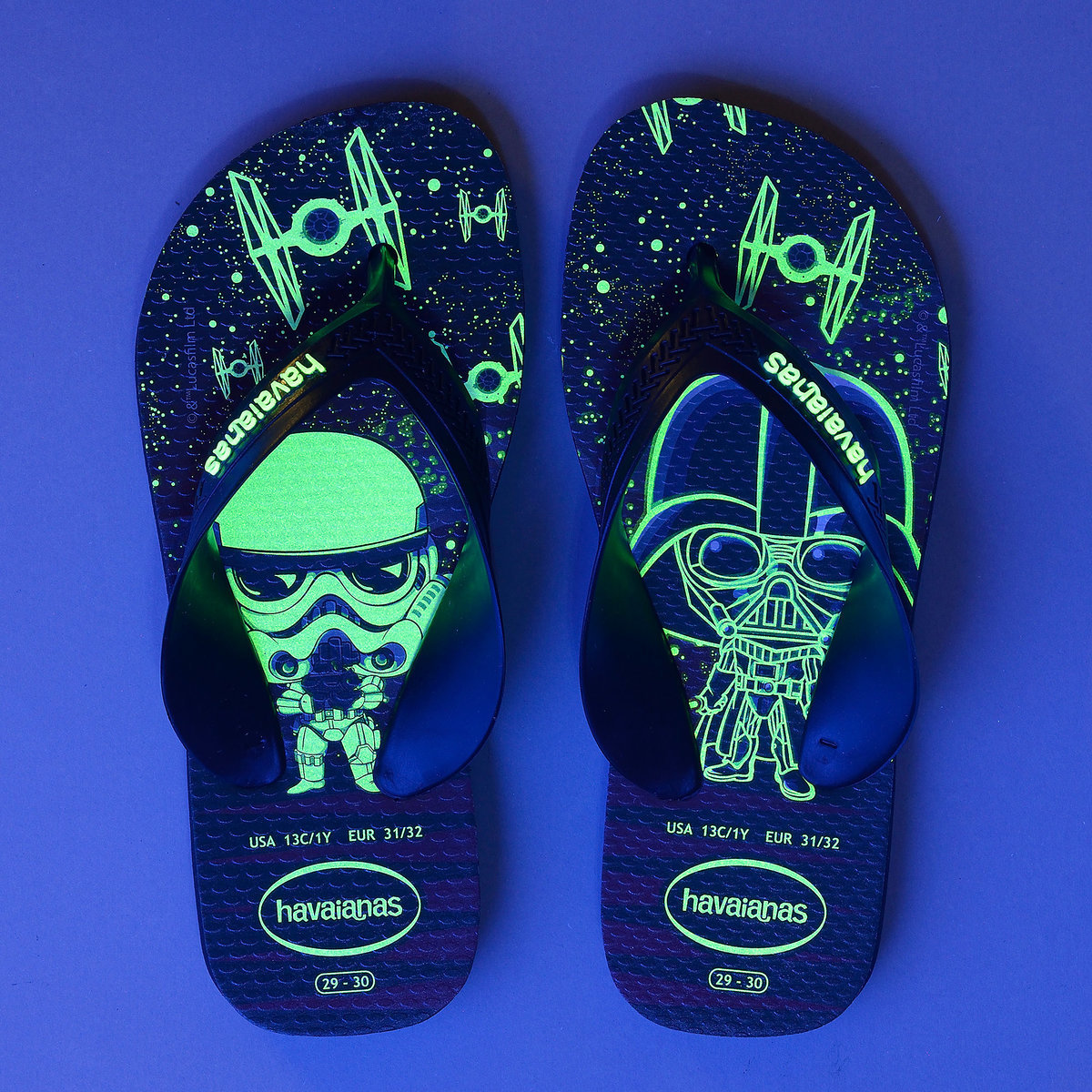 da6f0a4cc80 Product Image of Star Wars Glow-in-the-Dark Flip Flops for Kids