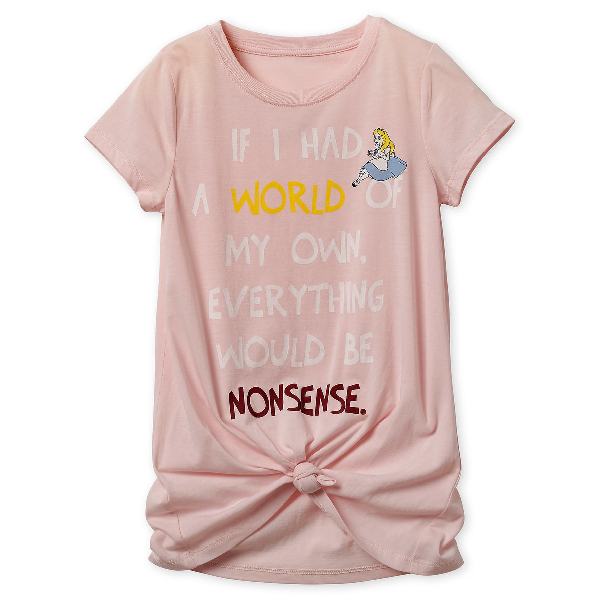 4f7fddad Product Image of Alice in Wonderland Knotted T-Shirt for Girls # 1