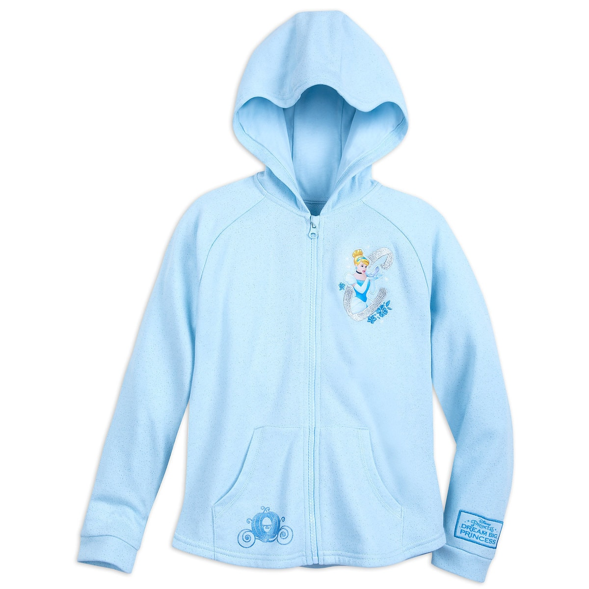 c1a659ea54a4 Product Image of Cinderella with Fantasyland Castle Hoodie for Girls   1